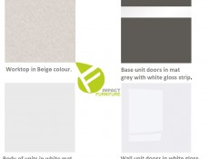 Junona Line Kitchen Set 9 Units in Grey Wolfram / White Gloss