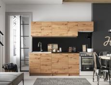 Complete Kitchen Set of 7 Cabinets Units Flat Pack in Artisan Oak – Nela 2