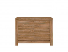 Modern Dark Oak 2-Door Sideboard Cabinet Storage 115cm Office Unit - Gent
