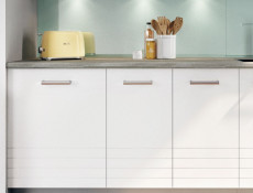 Free Standing White/Light Grey Kitchen Cabinet Cupboard Base Unit 30cm - Paula