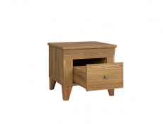 Traditional Light Oak Drawer Bedside Nightstand Table Cabinet Side Storage Unit - Bergen (S359-KOM1S-MSZ-KPL01)