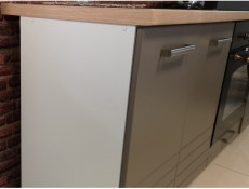 Free Standing Light Grey Kitchen Sink Cabinet Cupboard Unit 80cm - Paula