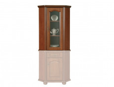 Glass Dresser Cabinet Top Unit Right - Natalia