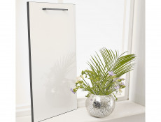 Free Standing White Gloss Kitchen Cabinet Cupboard Base Unit 40cm - Roxi (Roxi D40 s/3)