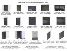 Free Standing Grey Gloss Kitchen Sink Cabinet Cupboard Unit 80cm 800mm - Modern Luxe (STO-MODERN_LUX-D80_ZL_ZAS-GREY-KP01)