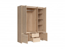 Modern Double Bedroom Furniture Set Oak - Kaspian (KASP DBL BED SET DSO)
