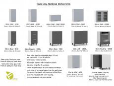 Light Grey Kitchen Wall Cabinet with Door 30cm Cupboard Unit - Paula (STO-PAULA-W30-P/L-GR/DOVE-KP01)