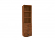 Bookcase Shelf Cabinet With Drawers - Indiana (S31-JREG4so/50-SOC-KPL01)