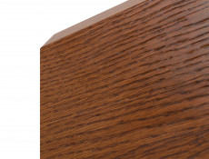 Retro Wide 5-Door Display Cabinet LED Lights Glass Storage Unit Living Room Brown Oak - Madison (S431-REG3D2W2S-DABR-KPL01)