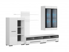Living Room Furniture Set 2 in White Gloss or Oak - Fever (S182-FEVER2-BIP/CA-KPL01)