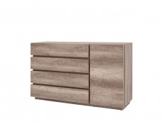 Sideboard Dresser Cabinet in Oak finish - Anticca