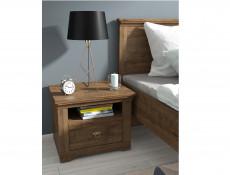 Classic King Size Bed Frame Bedroom Headboard Wooden Slats Dark Oak - Patras
