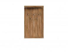 Modern Wall Mounted Hallway Coat Hanger with Hooks Storage Shelf Oak finish Entrance Hall - Gent