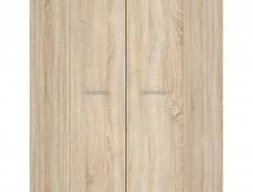 Modern Two Door Double Corner Wardrobe White or Sonoma Oak Finish- Nepo