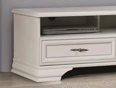 Classic White Matt TV Cabinet Stand Entertainment Unit with 2 Drawers - Idento  (S320-RTV2S-BI-KPL01)