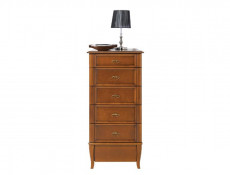 Vintage inspired Tallboy Chest of Drawers Cherry Wood Veneer - Orland (KOM6S/60)