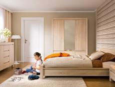 Wide Sideboard Dresser Cabinet in Sonoma Oak - Agustyn (KOM2D4S)