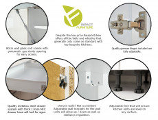 Free Standing White/Light Grey Kitchen Cabinet Drawer Base Unit 40cm - Paula