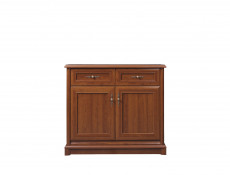Small Sideboard Dresser Cabinet Traditional Living Room Chestnut Finish - Kent
