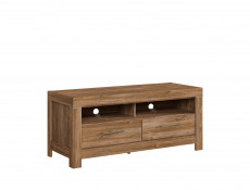 Modern Dark Oak finish TV Unit Cabinet Stand with LED Light 138.5cm - Gent