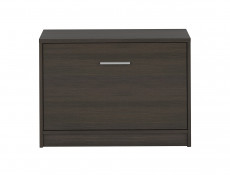 Shoe Cabinet Hallway Entrance Hall Wenge, White or Sonoma Oak Finish - Nepo (S435-SFK1K-WE-KPL01)