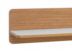 Small Wall Mounted Shelf White and Oak finish - Bari
