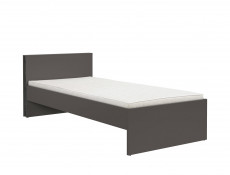 Modern Single Bed Frame Grey Kids Youth Bedroom Furniture - Graphic