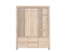 King Size Bedroom Furniture Set in Oak finish - Agustyn