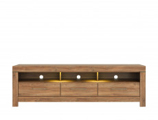 Modern 3-Piece Living Room Furniture Set Storage Display LED Lights Oak - Gent (S228-GENT_LIVING _ROOM_SET_3-DAST)