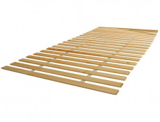 White Gloss Modern King Size Bed Frame 160 cm Wooden Bed Slats - Pori