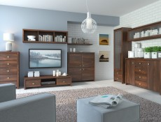 Kaspian II - Wall-Mounted Glass Fronted Cabinet