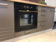 Dark Mocca Grey Kitchen Cabinet Oven Housing 60cm Free Standing 600 Unit - Paula