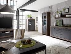 Modern Living Room 2-Door Double Wardrobe Shelf Rail Storage Unit Oak - Balin