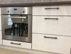 Free Standing White High Gloss Kitchen Base Drawer Cabinet Cupboard Unit 40cm - Roxi