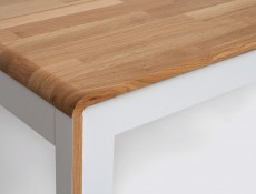 Sideboard Dresser Cabinet - Bari (S332-KOM3D3S-BI/DNA/BIP-KPL01)
