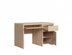 Study Office Desk with Cabinet Sonoma Oak - Kaspian (S128-BIU1D1S/120-DSO/DSO-KPL01)