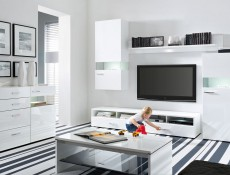 Desert - TV Cabinet in White High Gloss