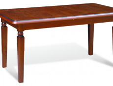 Traditional Coffee Table Polished Solid Wood Legs Chestnut Finish - Bawaria (D09-TXL_DLAW-TX012-KPL01)