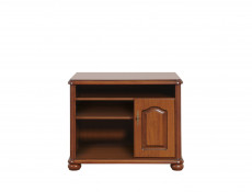 TV Cabinet Unit Classic Style Traditional Living Room Furniture Cherry Finish - Natalia