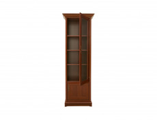Glass Display Cabinet Right Classic Style Traditional Living Room Furniture Chestnut Finish - Kent (S10-EWIT1dP-KA)