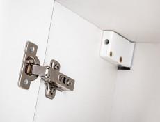 Nowoczesna wysoka szafka łazienkowa słupek wiszący biały połysk - Finka