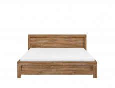 Modern King Size Double Bed Frame Wooden Slats and Headboard Oak - Gent (S228-LOZ/160-DAST-KPL01+WKL160/L16-BK)