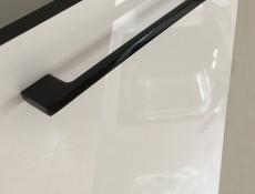 White High Gloss Kitchen Sink Cabinet Cupboard 80cm Unit - Roxi