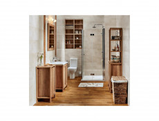 Classic Free Standing Vanity Bathroom Unit Cabinet & Sink Wall Mounted Mirror 80cm 800mm Oak - Classic Oak