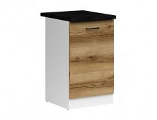 Modern Free Standing Kitchen Cabinet 500 Base Cupboard Unit 50cm Right Hand Light Delano Oak - Junona (K24-D1D/50/82_P-BI/DDJ/LMC-KPL01)