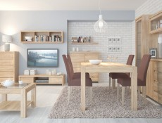 Modern Extendable Dining Table Oak - Kaspian (D09-STO/180/95-DSO-KPL01)