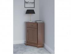 Vintage inspired Sideboard Corner Dresser Cabinet Dark Wood Tone - Kent