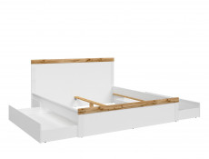 Scandinavian Underbed Storage Drawer on Wheels White Mat/White Gloss - Holten