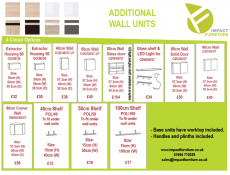 Modern Free Standing Kitchen Extractor Housing Wall Cabinet 60cm - Junona