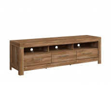 Modern Living Room Media Bench TV Cabinet Storage Unit 200 cm Oak - Gent (S228-RTV3S/6/20-DAST-KPL01)